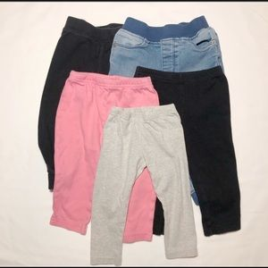 Lot of 5 Assorted 12-month Girl Bottoms